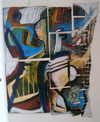 2004 cut acrylic paintings