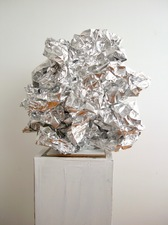 Guy Romagna sculpture 2018 36 gauge aluminum foil