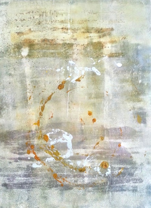 Gwendolyn Plunkett Flight of Fancy  Oil and cold wax on paper