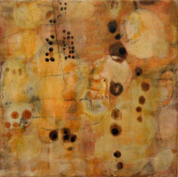Locating Beauty Gallery Encaustic on panel, 16 x 16 inches