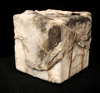 Dimensional Works Box wrapped in plaster cloth, beeswax and resin, cotton fabric and jute cord