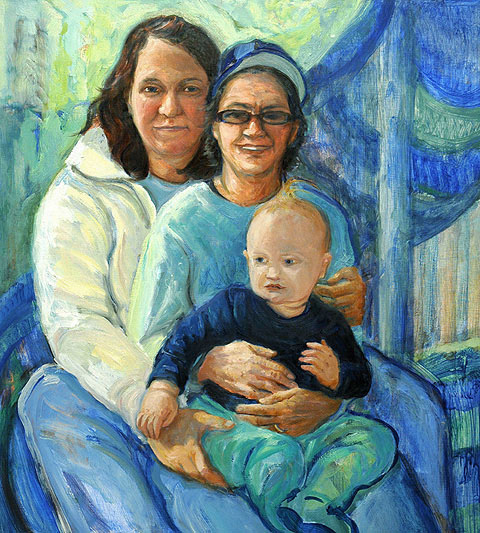 Gwyneth Leech Perfect Families: 2006-2010 Oil on wood panel