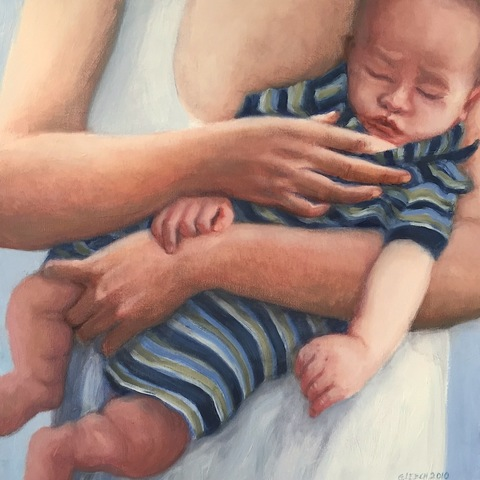 "Gwyneth Leech Perfect Families: 2006-2010 Oil on canvas, 20"" x 20"""