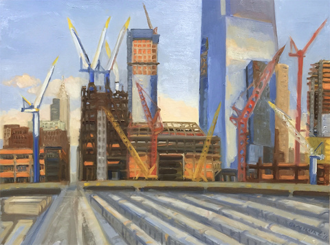 Gwyneth Leech Construction Series  Oil on board