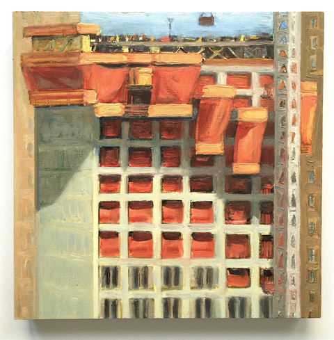 Gwyneth Leech Construction Series  Oil on wood panel