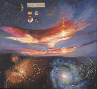 Harry Powers Cosmology Oil, acrylic on canvas