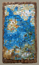 Harry Powers Early Work glass mosaic smalti on wood