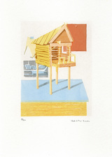 Heather Swenson Hideout screenprint