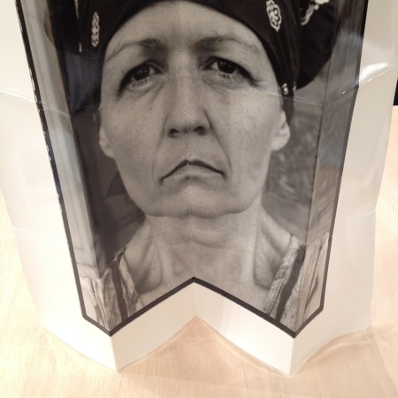 heather sheehan photography digital image of a folded darkroom printed analogue self-portrait photograph
