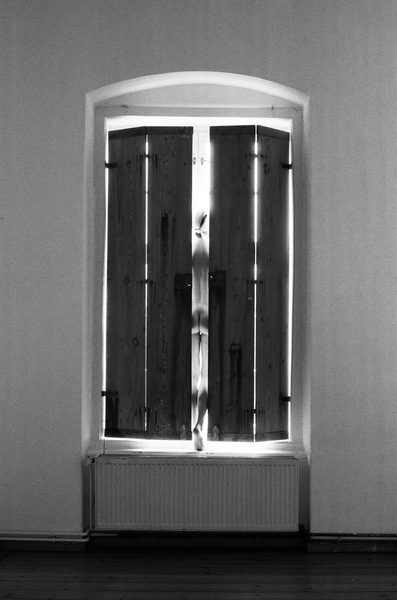 heather sheehan Winged Altarpiece Self Portrait B&W 35mm Film Photography