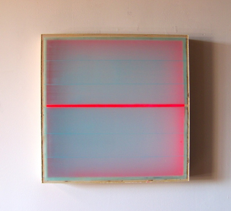 RECENT PAINTINGS Divided Light (Magenta), (2008)