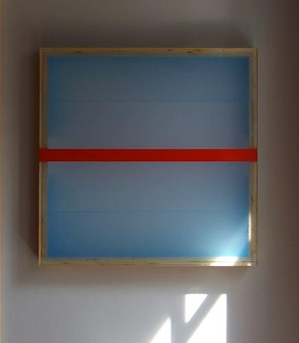 PAINTINGS Divided Light (Vermillion) (2008)