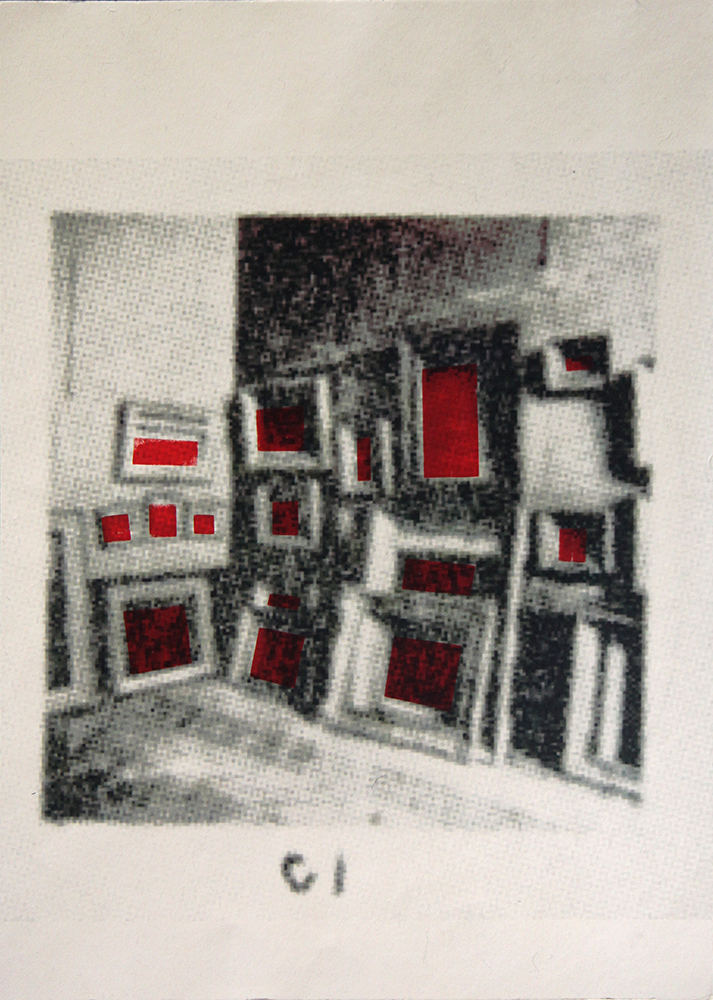 Prints C1 Louvre Storage (Red Squares)