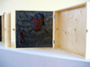 mind BODY | 3D Beeswax, oil paint in plywood box, hardware