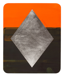 H E I D I   P O L L A R D Small Gouache Paintings  Gouache & aluminum leaf on shaped rag board