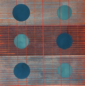 Helen Ireland Grid Landscape series Gouaches 2018 Gouache on paper