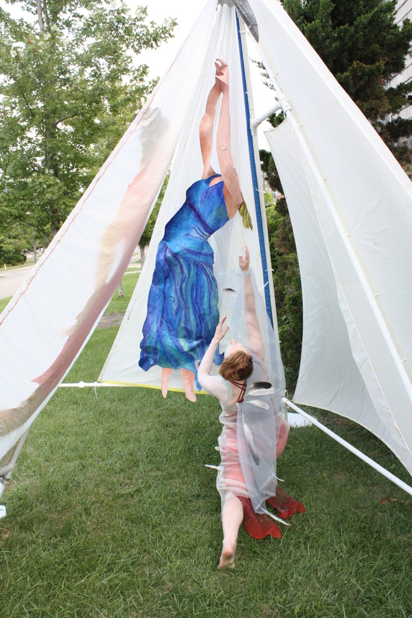 Sailcloth Art Collaborators Laura Swedenborg, Dancer