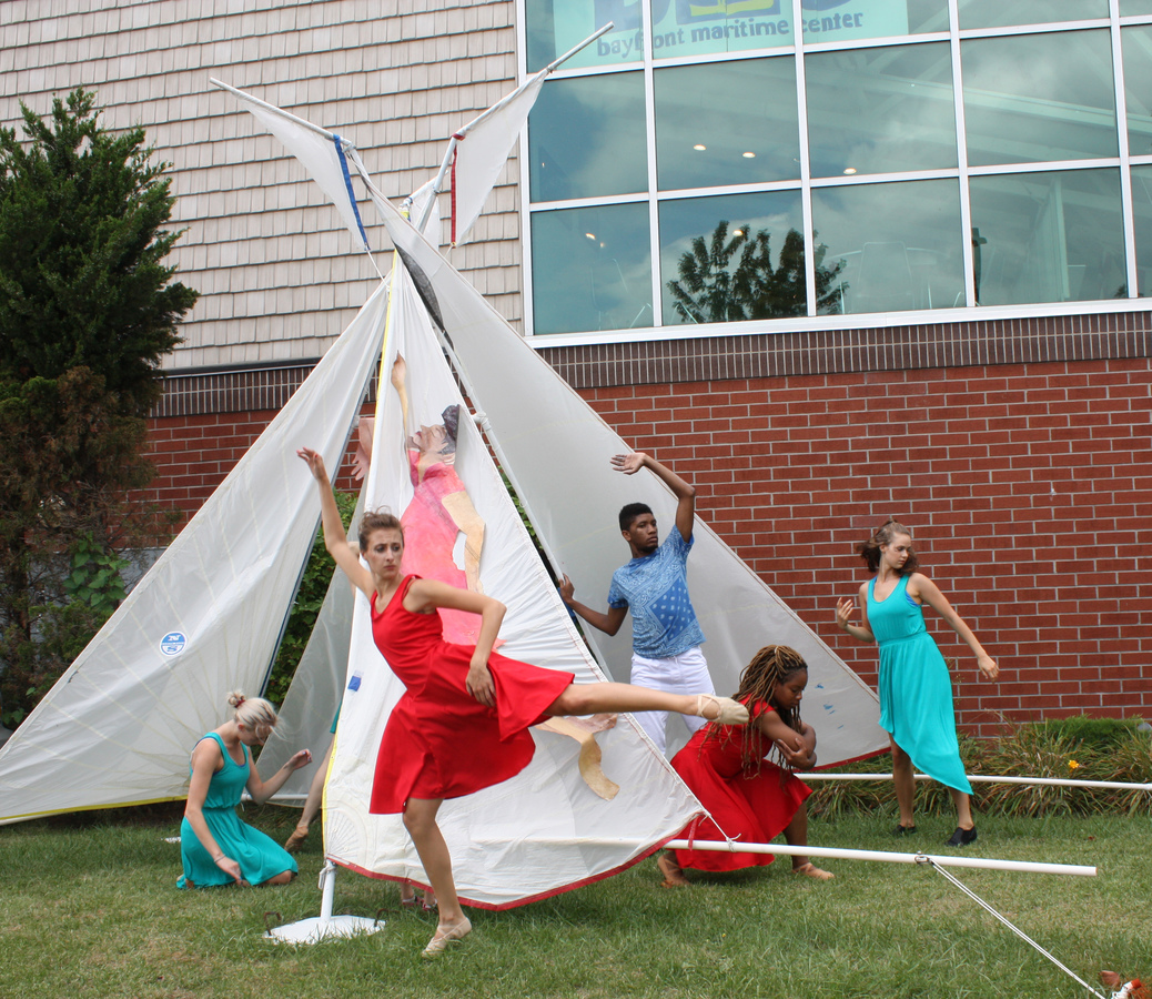 Sailcloth Art Collaborators SRU Dance