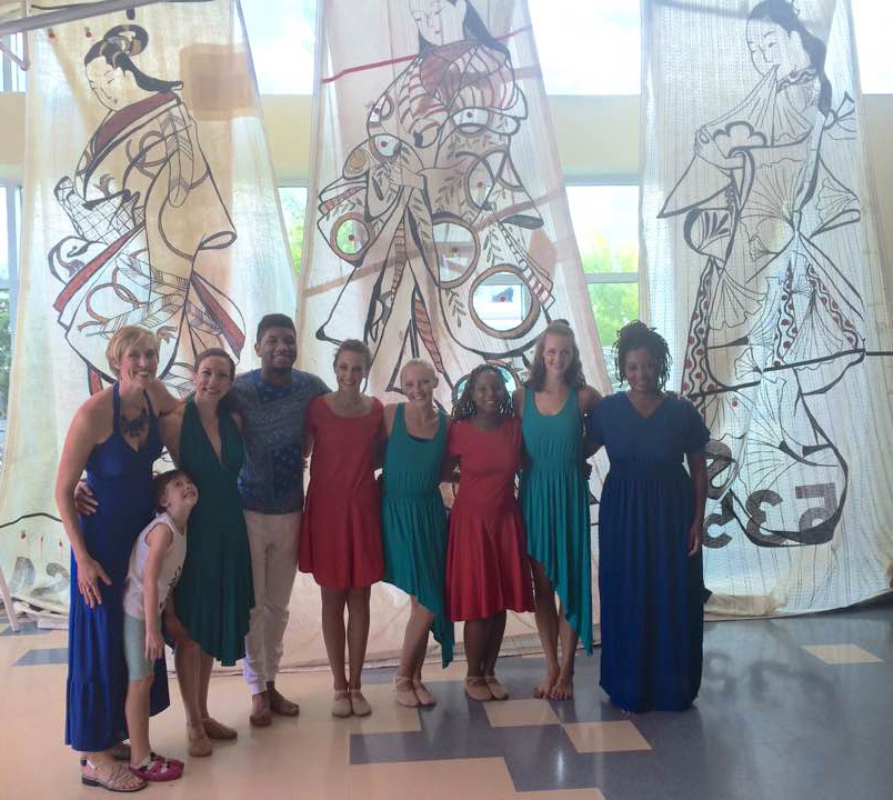 Sailcloth Art Collaborators Slippery Rock University Dancers