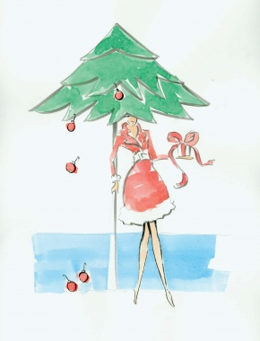 Pierson + DeCesare FASHION ILLUSTRATION watercolor