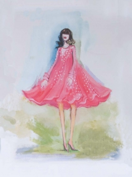 Pierson + DeCesare FASHION ILLUSTRATION acrylic