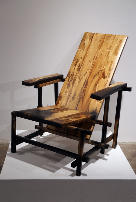 Brown and Black Chair (After Rietveld)
