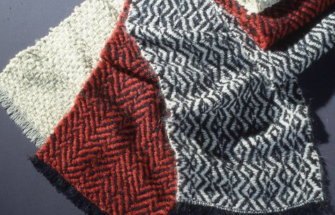 Hillary Lisa Steel Handwoven Scarves
