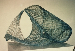 HJ BOTT 	SCULPTURE, DoV matt and clear enamels on industrial mesh