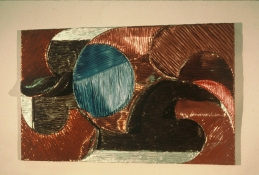 HJ BOTT RELIEFS, all periods, 1948 on acrylics, mica & chromates on laminated canvas