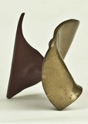 HJ BOTT 	SCULPTURE, DoV polished and patinated/painted silicon bronze