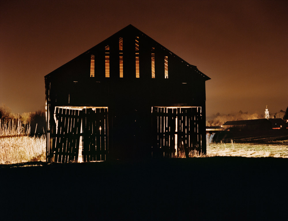 PIONEER VALLEY Shedding Light, Amherst, MA, 2011, C-print.