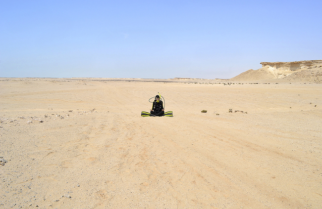 HOPE GINSBURG Breathing on Land: Zekreet, Qatar, 2015 archival ink jet print