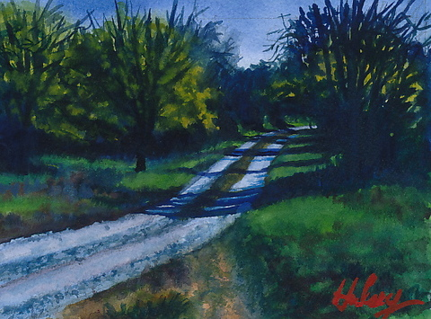 HULSEY TRUSTY STUDIOS Small Paintings watercolor