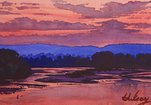 HULSEY TRUSTY STUDIOS Available Small Paintings Watercolor