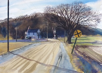 HULSEY TRUSTY STUDIOS Plein Air Plein air Watercolor