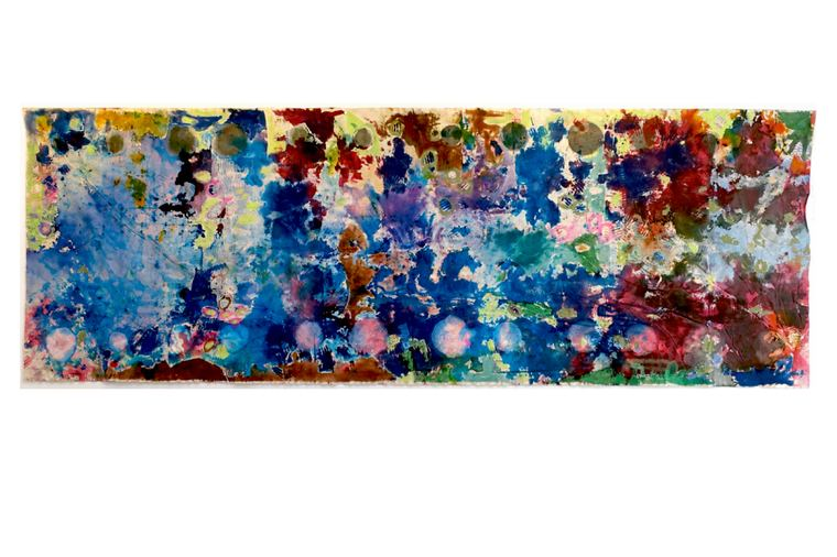 ISOLDE KILLE painting RECORDING OF COLOR ink, enamel paint on canvas