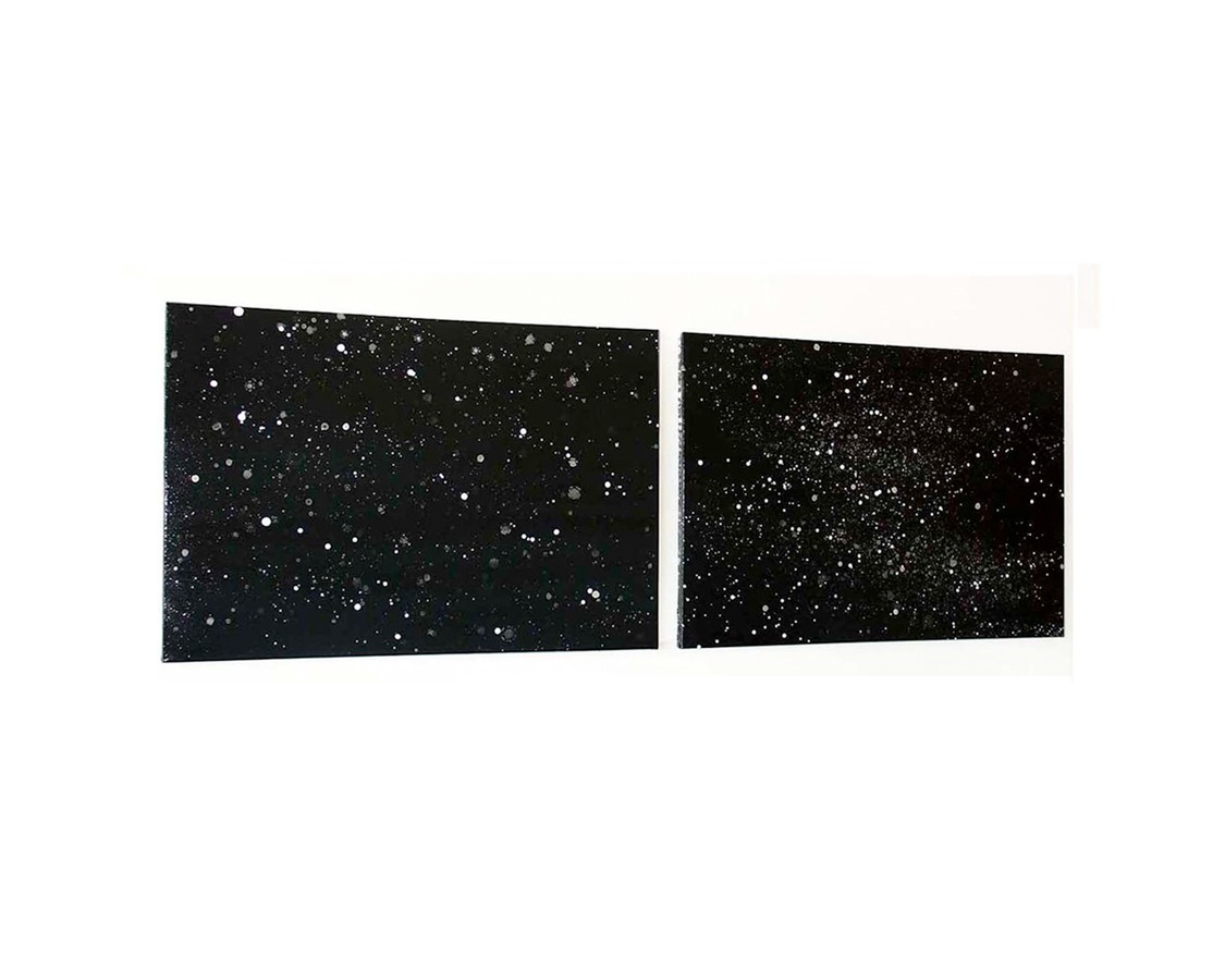 COSMIC SERIES space odyssey 7+8, series of 12 individual paintings
