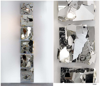 ISOLDE KILLE MIRROR WORKS Mirror, foam on wood
