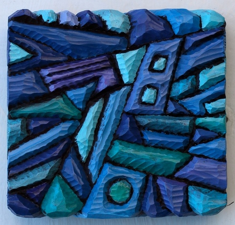 Imogen Gallery Tom Cramer Oil on carved wood relief