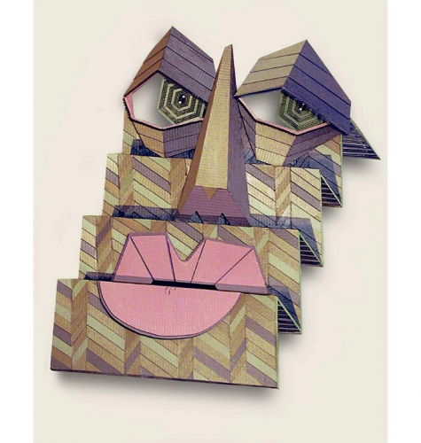 Ivan Sherman Out of the Box:Art created from Recycled Corrugated Boxes Acrylics, hand-cut corrugated cardboard