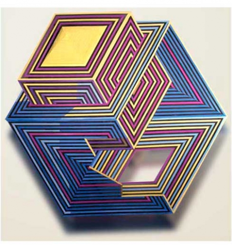 Ivan Sherman Out of the Box:Art created from Recycled Corrugated Boxes Hand cut corrugated cardboard, acpylics