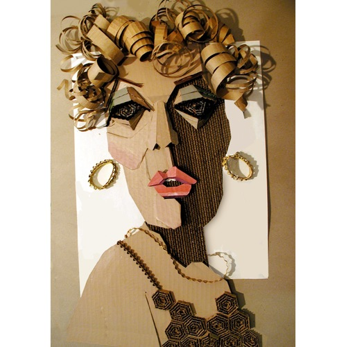 Ivan Sherman Out of the Box:Art created from Recycled Corrugated Boxes cut corrugated cardboard, acrylics