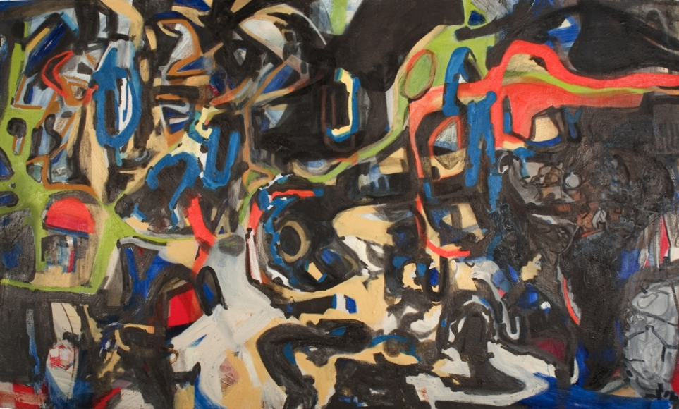 Jackie Lipton Blindsight  acrylic and oil paint stick on canvas