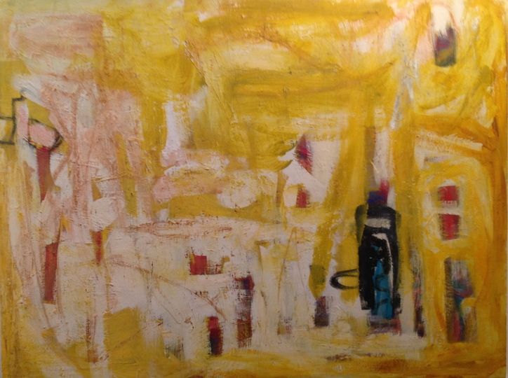 Jackie Lipton Blindsight  oil paint stick, acrylic and oil on canvas