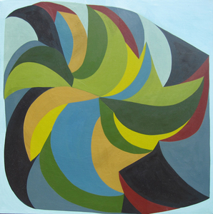 Jackie Meier Sliced  oil on canvas