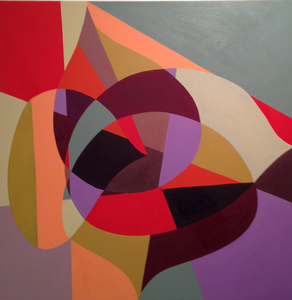 Jackie Meier Cut and Curvaceous oil on canvas