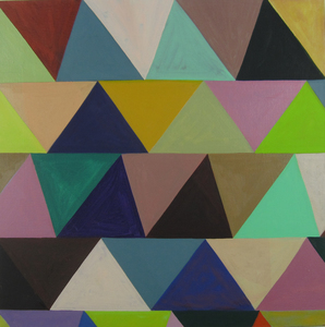 Jackie Meier Triangles oil on canvas