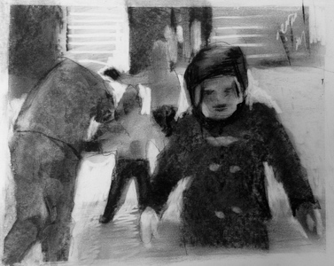JACKIE REEVES Current Charcoal on paper