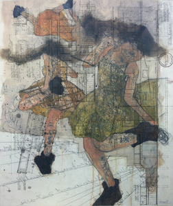 JACKIE REEVES 2010-2013 oil pastel, ink, pencils on mylar