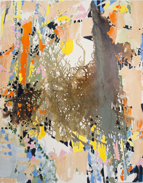 Jackie Saccoccio 2015 oil and mica on linen